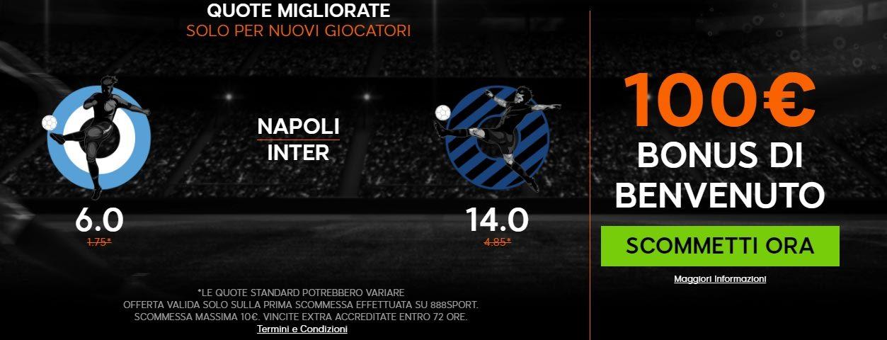 Promo di 888Sport per la partita Napoli Inter!