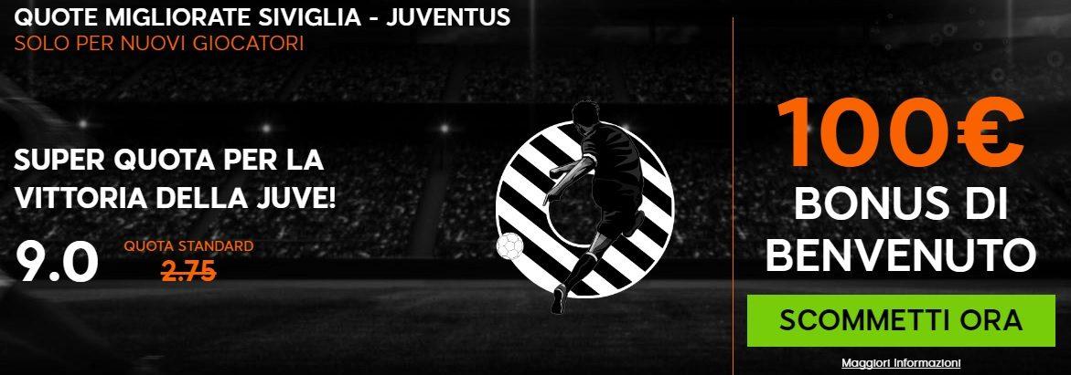 Promo di 888Sport per la partita Siviglia Juventus!