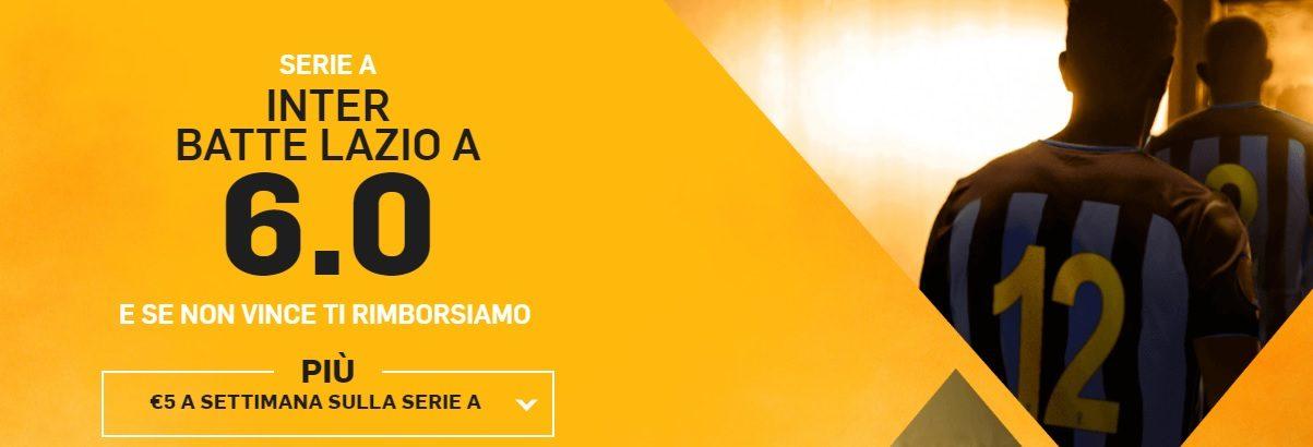 Promo di Betfair per la partita Inter Lazio!