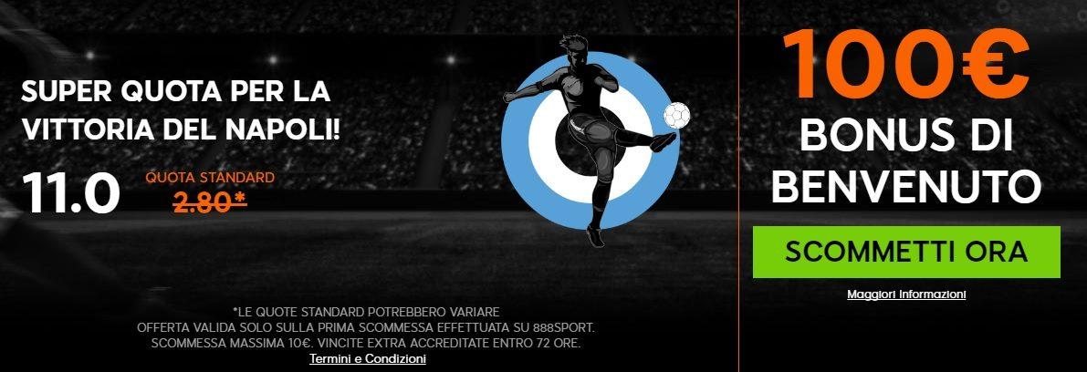 Promo di 888Sport per la partita Benfica Napoli!