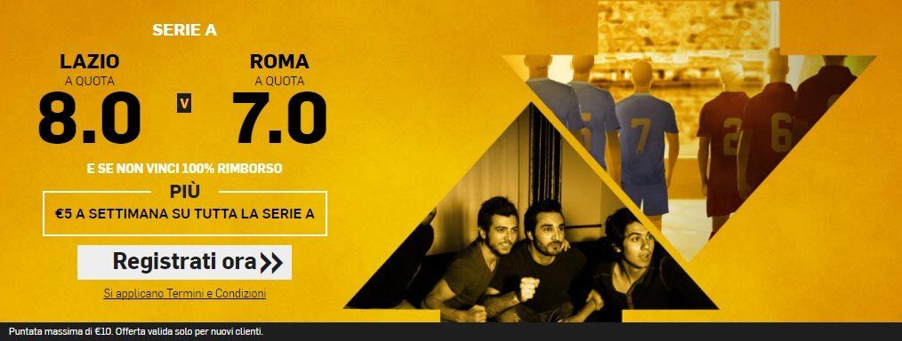 Promo di Betfair per la partita Lazio Roma !