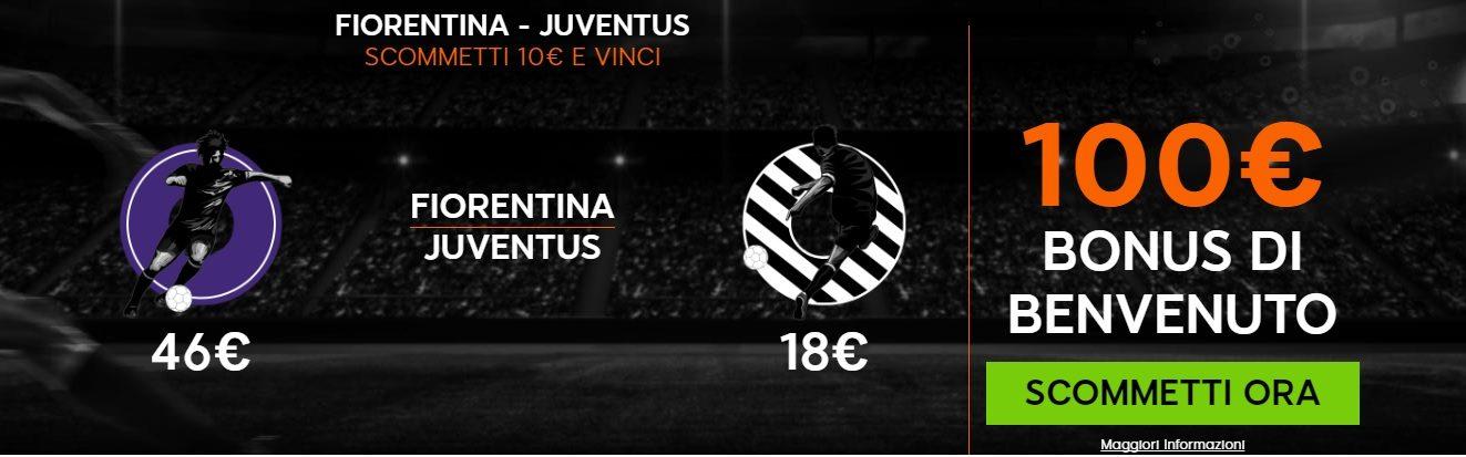 Promo di 888Sport per la partita Fiorentina Juventus!