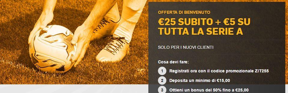Promo Betfair Serie A