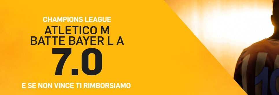 Promo di Betfair per la partita Leverkusen Atletico Madrid!