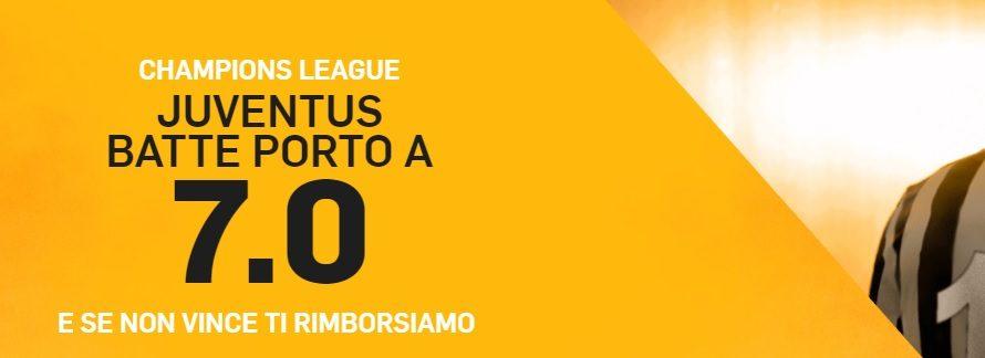 Promo di Betfair per la partita Porto Juventus!