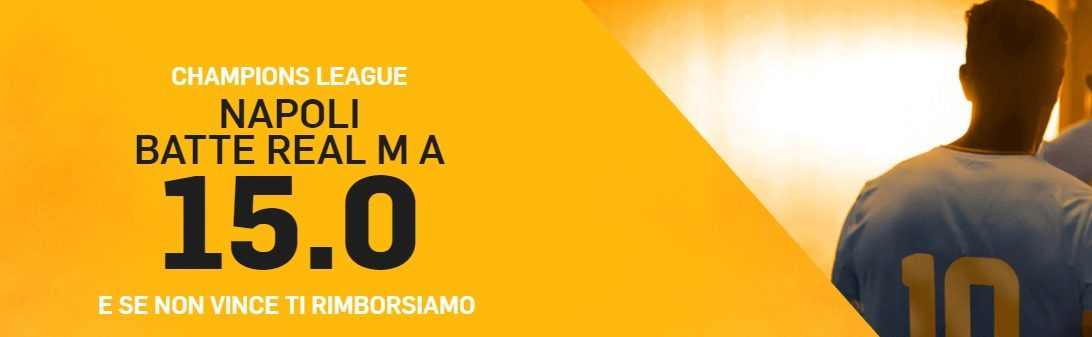 Promo di Betfair per la partita Real Madrid Napoli!