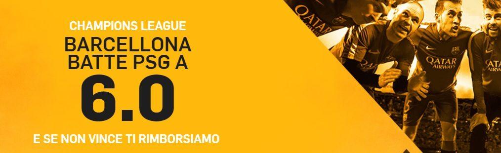 Promo di Betfair per la partita PSG Barcellona!