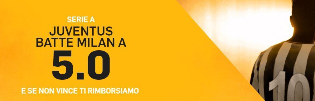 Promo di Betfair per la partita Juventus Milan!