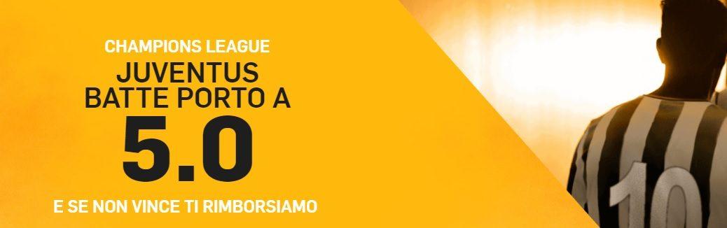 Promo di Betfair per la partita Juventus - Porto!