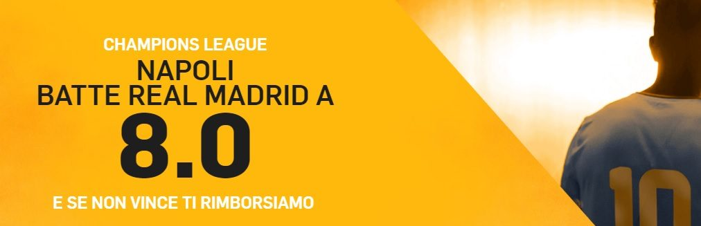 Promo di Betfair per la partita Napoli Real Madrid!