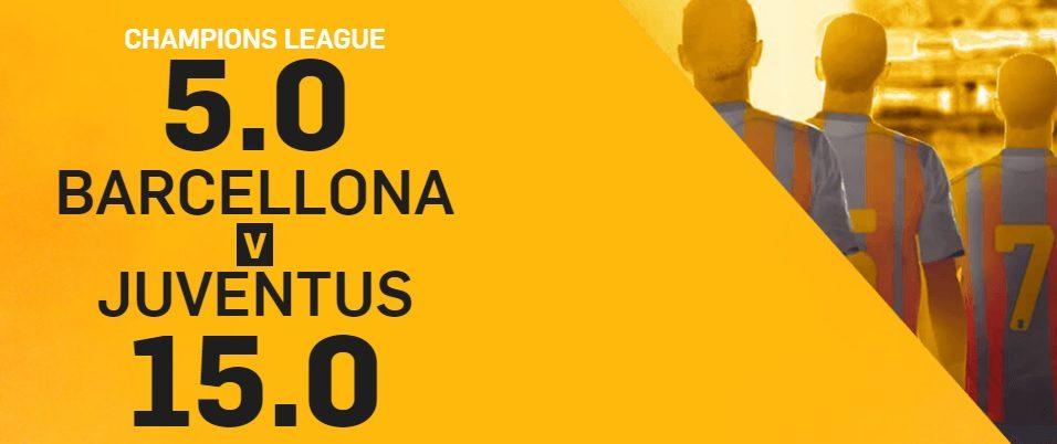 Promo di Betfair per la partita Barcellona Juve!