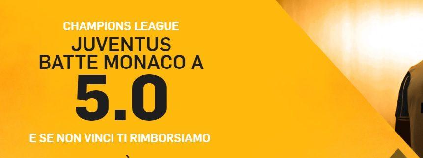 Promo di Betfair per la partita Monaco Juventus!
