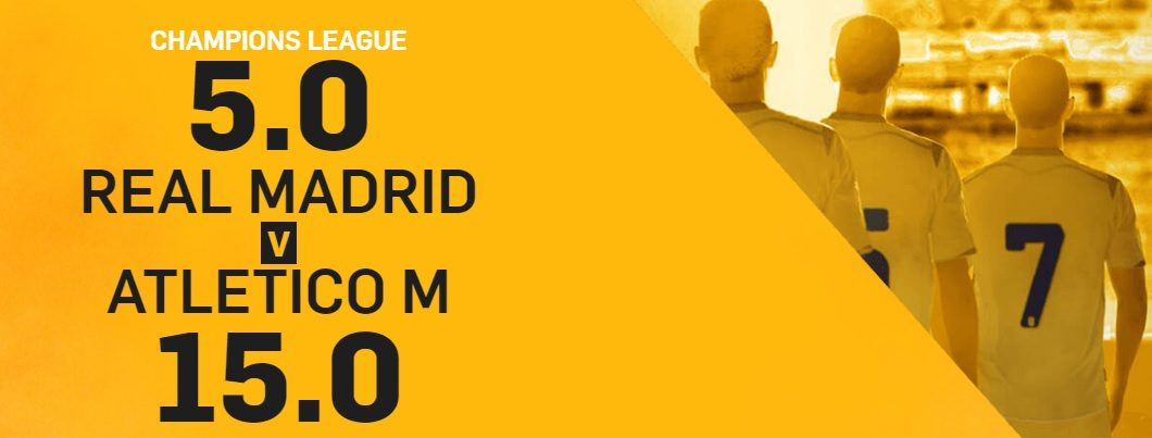 Promo di Betfair per la partita Real Madrid Atletico Madrid!