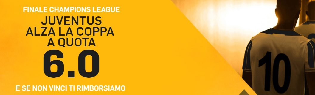 Promo di Betfair per la partita Juventus Real Madrid!