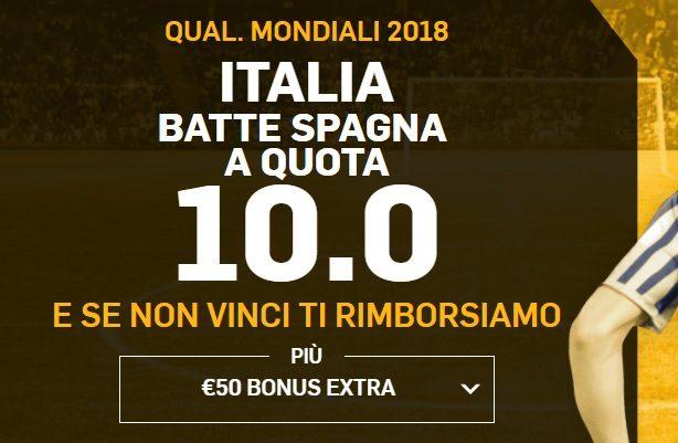 Promo Betfair Spagna Italia !