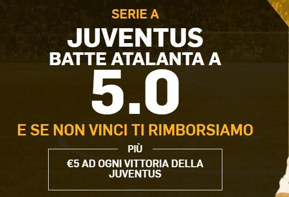 Promo di Betfair per la partita Atalanta Juventus !