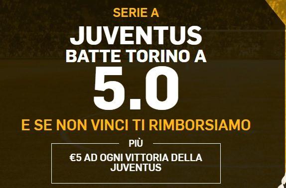 Promo di Betfair per la partita Juventus Torino!