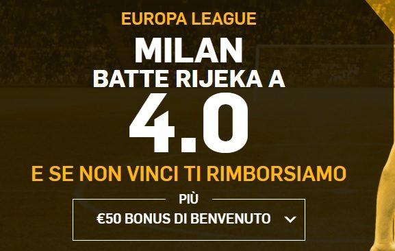 Promo di Betfair per la partita Milan Rjeka!
