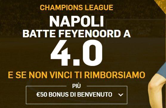 Promo di Betfair per la partita Napoli Feyenoord!