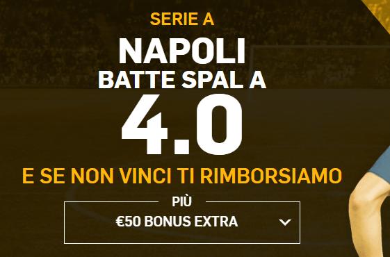 Promo di Betfair per la partita Spal Napoli!