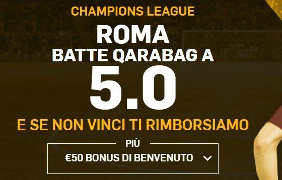 Promo di Betfair per la partita Qarabag Roma!