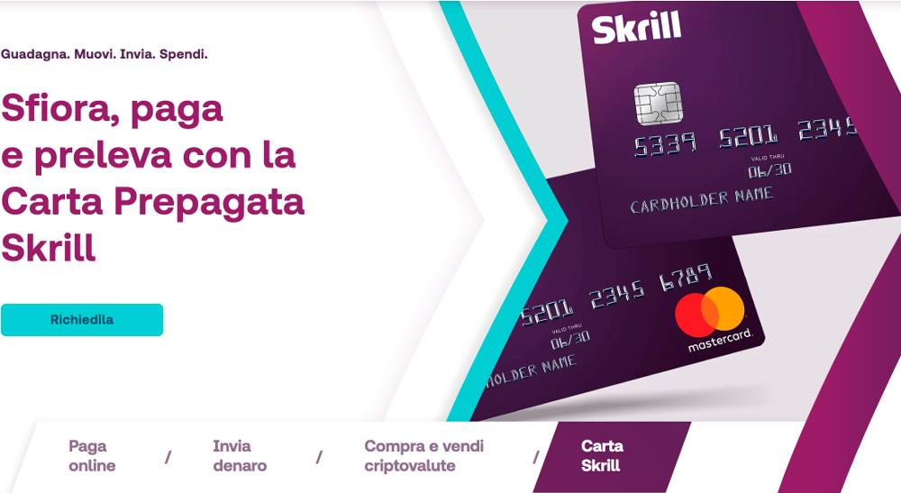 carta di credito prepagataskrill